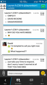 The craziness of watching anything with Lauren